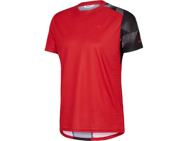 Ziener Nulf T-Shirt Heren, red pop